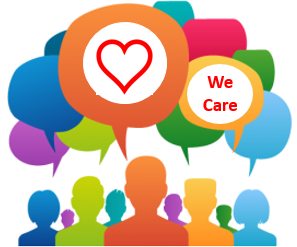 We care about you illustration.